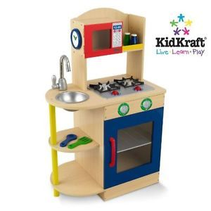 Kitchen Set Pretend Play KidKraft Primary Wooden Childrens Kids Gift Toy Game