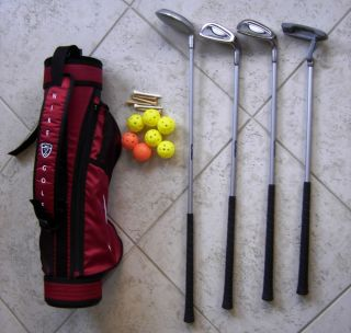 Kids Sports Golf Club Toy Lot Ultralight ProFlex 78 Balls Nike Bag Putter 6 7