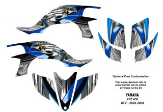 Yamaha YFZ450 ATV Graphic Decal Sticker Kit Metalic Eagle 5700BLUE
