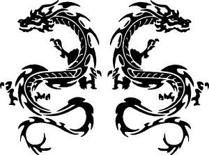 "Dragon Vinyl Decals Stickers Car Graphics 8"" x 12"""