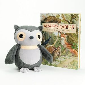 New Kohls Cares Kids Owl and Aesops Fables Book Plush Stuffed Animal Toy HC DJ