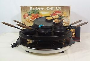 Raclette 6 Person Indoor Electric Party Grill Griddle Vivalp V3 Made in France