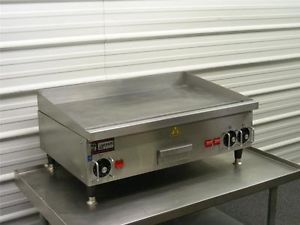 "APW Hyott 36"" Electric Commercial Restaurant Griddle Grill Countertop Flat Stove"