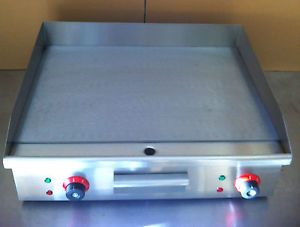 Electric Griddle Large Twin Hotplate Commercial Burger Grill Bacon Egg Fryer 600