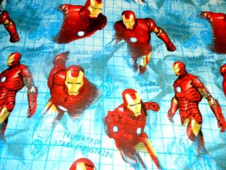 Original 2008 Marvel Movie Iron Man Twin Single Flat Sheet Fabric Character