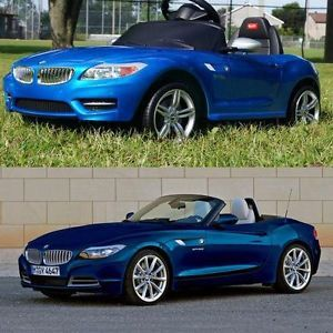 Licensed BMW Z4 Baby Kids Ride on Power Wheels Battery Toy Car Blue