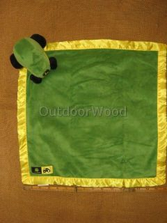 John Deere Green Plush Tractor Baby Banky Blanket with Satin Trim