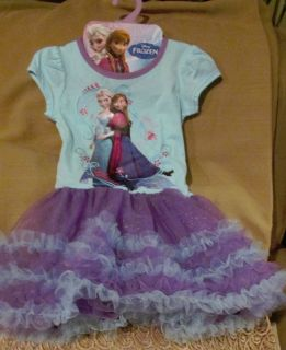 RARE Exclusive Disney's Frozen Girls Size M 5 6 Elsa Anna Tutu Dress