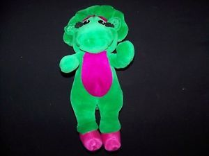 "Barney Friends 12"" Baby Bop Dinosaur 1993 Vintage Plush Stuffed Kids TV Toy"