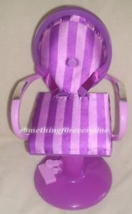"Funrise Purple Striped Salon Barber Chair for 18"" Dolls My Life As"