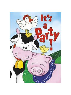 Farm Friends Barnyard Invitations 8 Pack Birthday Party Supplies