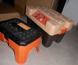 Vintage  Kids Electronic Work Bench Step Stool w Tools