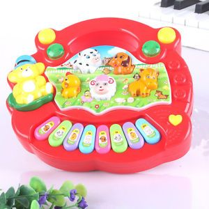 Red Baby Animal Musical Instrument Infant Kids Developmental Puzzle Piano Toys