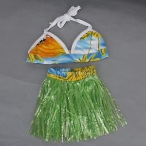 Hawaiian Pet Dog Bikini Hula Skirt Dance Dress Luau Party Costume Swimming Suit