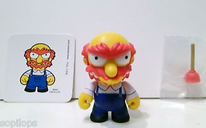 "Kidrobot Simpsons Series 2 Groundskeeper Willie 3"" Vinyl Art Toy Matt Groening"