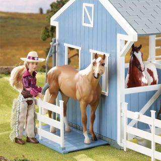 Breyer Country Stable Barn Play Set w Stall Cowboy Cowgirl Horse Kid Toy Fun