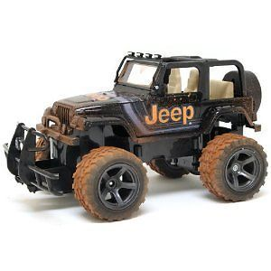 Radio Remote Control Mud Slinger Jeep Wrangler Truck Vehicle Toys Kids Age 8