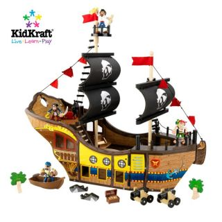KidKraft Fun Explorers Pirate Ship Kids Wood Play Set