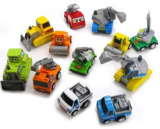 Lots 12pcs New Kids Baby Toy Mini Pull Back Machineshop Construction Cars 4 6cm