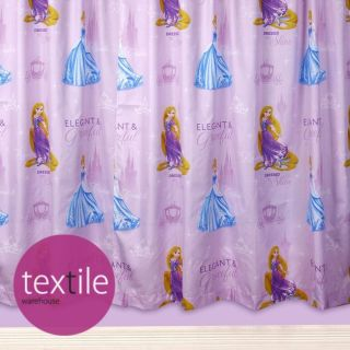 Disney Princess Cinderella Girls Kids Character Bedroom Ready Made Curtains