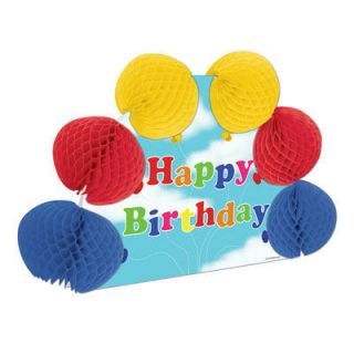 Happy Birthday Party Pop Over Centrepiece Decoration