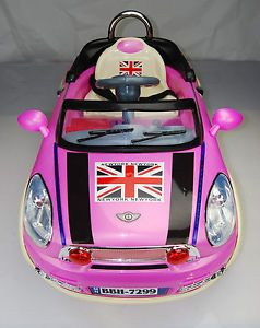 Kids Mini Style Ride on Car Electric 6V Battery Parents Remote Toy BBH7299 Pink