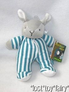 "8"" 2011 Kids Preferred Goodnight Moon Book Bunny Rattle Lovey Plush Baby Toy"