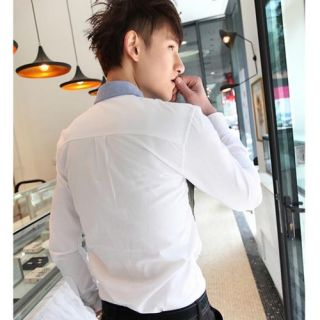 Mens Slim Fit Short Sleeve Dress Shirts