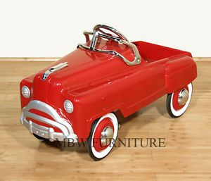1950's Style Vintage Murray General Buick Comet Children Red Pedal Car Toy