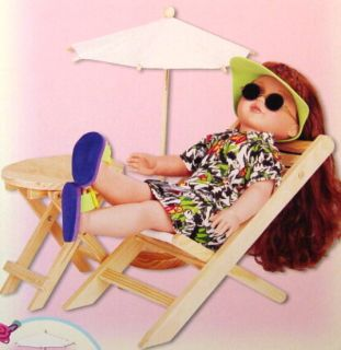"Gigo Lawn Set Summer Relaxing for Baby Face 18"" Dolls"