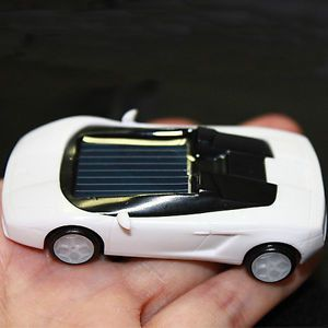 Solar Mini Lamborghini Model Car Educational Toy Trick Office School Kids J16W