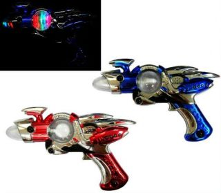 Light Up Outer Space Spin Gun B O Kids Pretend Toy Guns Alien Shooter Toys New
