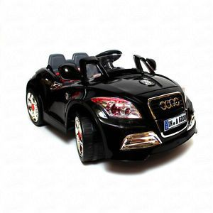 Ride on Car 12V Audi Style Kids Power Wheels w  Remote Control Toy Black