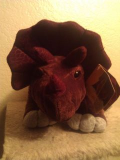 "Kohls Cares for Kids Brown Triceratops Dinosaur Plush Toy 14"" Stuffed Animal"