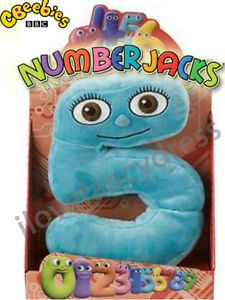 Numberjacks 10 inch Boxed Soft Toy Number Jack Five 5 Kids Plush Christmas Toy