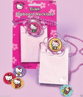 Hello Kitty Clipboard Necklace Party Favors Supplies