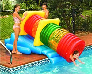 Kids Inflatable Swimming Pool Water Slide Tube Blow Up Fun Play Toy