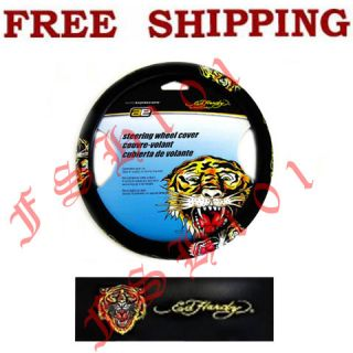 Brand New Christian Audigier Ed Hardy Tiger Car Truck Steering Wheel Cover