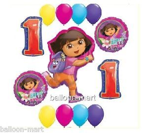 Dora The Explorer 1st Birthday Party Supplies Balloon Kit One First Decoration