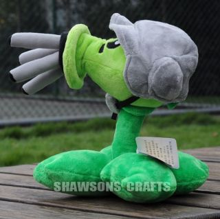 "PVZ Game Character Doll Plush Stuffed Toy 11"" Gatling Pea Soft Figure"