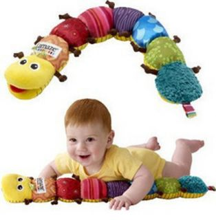 Baby Plush Toy Musical Inchworm Soft Kids Developmental Stuffed Animals Toys