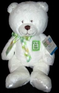 New Kids Preferred My First Teddy Bear White Plush Baby Toy Lovey