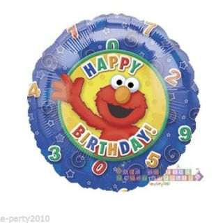 Sesame Street Elmo Mylar Balloon Happy Birthday Party Supplies