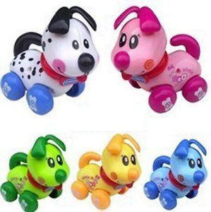 Baby Educational Toy Cars Dog Animal Wind Up Toy Colorful Kids Birthday Gift