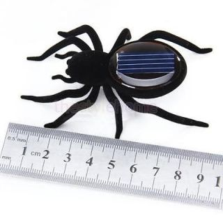 Black Sunlight Solar Power Spider Insect Bug Kids Gift Educational Creative Toy