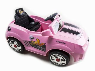 Kids Pink Camaro Style Ride on RC Car Remote Control Electric Power Wheels