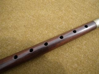 Outstanding Civil War Era Rosewood Fife Circa 1860