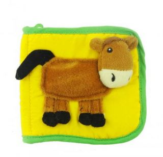 Soft Cloth Book Toy Infant Baby Children Kid's Rattle Textured Animal Mini Plush