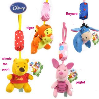 Baby Plush Soft Toy Disney Winnie The Pooh Friend Crib Windbell Hanging Rattle