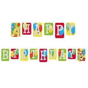 Disney Winnie Pooh Birthday Party Happy Birthday 2 7M Letter Flag Banner WP050